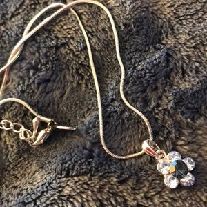 Cookie Lee Flower Blue Necklace